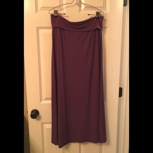 Mossimo Long Maxi Skirt Purple Plum L